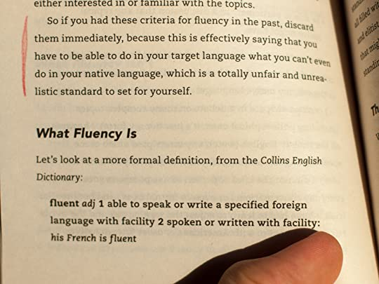 ... Becoming Fluent In Three Months, Something Which Other People On The  Web Have Commented On Too. This Is Part Of His Own Definition From The Book  Itself: