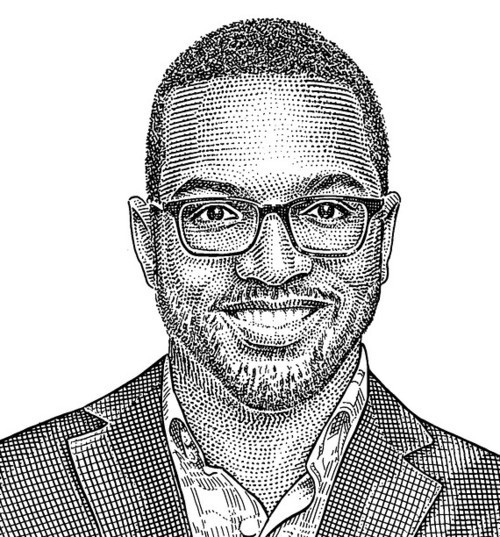 Baratunde gets stippled by the Wall Street Journal, and he likes it.