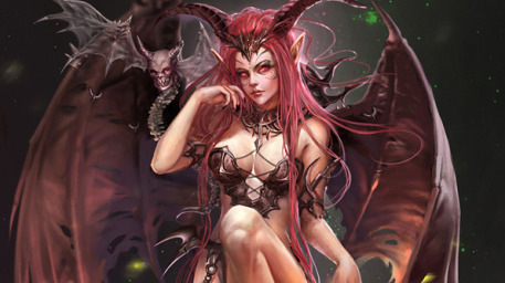 Red Haired Demon Girl