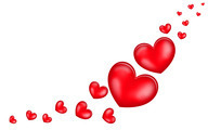 Floating hearts Wallpaper