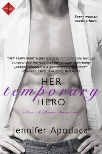 her temporary hero by jennifer apodaca giveaway on beth hyland facebook page