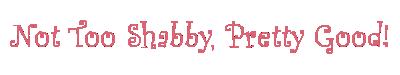 Not too Shabby Pretty Good
