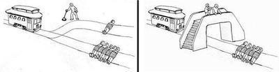 Trolley Problem switch versus push