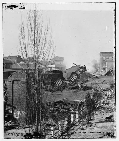 Southern storm shermans march to the sea by noah andre trudeau ruins of rr depot in atlanta blown up on shermans departure fandeluxe Choice Image