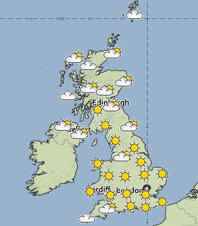 UK-sunny skies