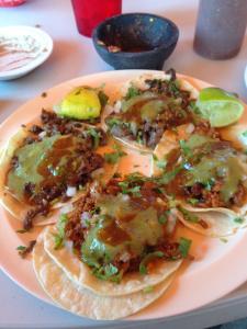 Tacos from Dad's favorite Taqueria.