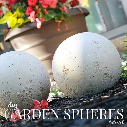 How To Make Diy Cement Garden Spheres Via Kristina J Blog ...