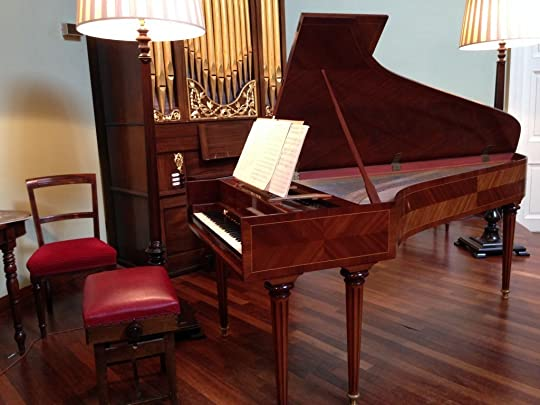 A harpsichord that Mozart played on, used in a live concert by John Kitchen in Edinborough