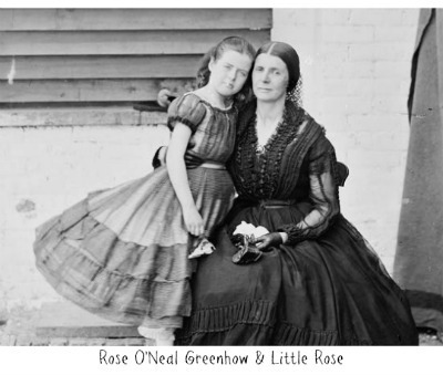Rose ONeal Greenhow with Little Rose, 1862
