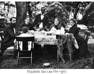 Elizabeth Van Lew with brother, nieces, and servant