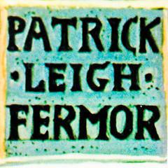 Patrick Leigh Fermor nameplate