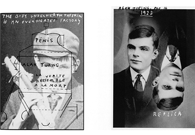 Alan Turing machine series, Body Underneath the skin 1928, Alan Turing with replica age 16