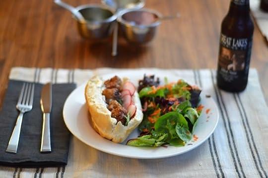Composing Love Smoky Pork Bánh Mì Sandwiches