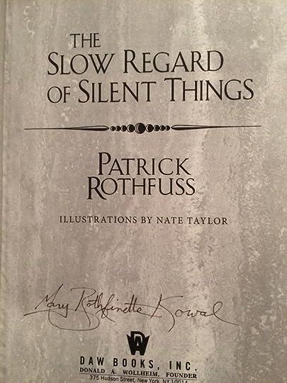 the slow regard of silent things mobi download
