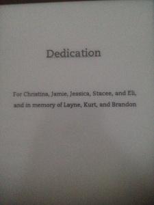infinite repeat book dedication