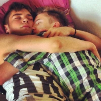 Guys sleeping together