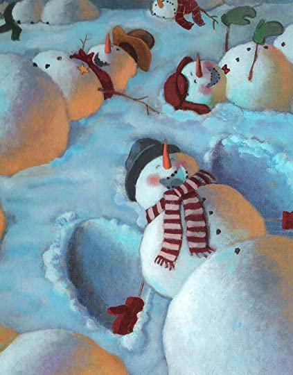 Snowmen At Night By Caralyn Buehner - 18 creepy horror snowmen will take winter next level