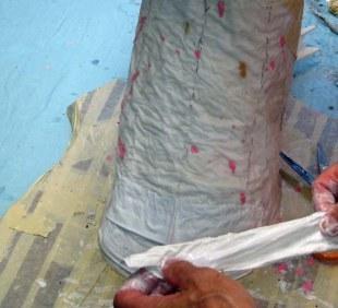 paper mache Drogon- breastplates 1