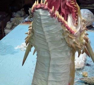 paper mache Drogon- breastplates 3