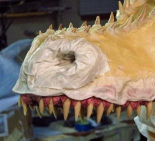 paper mache Drogon- cloth mache nose2