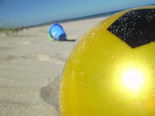 beach ball in the sand photo: Curracloe, Wexford BILD00032.jpg