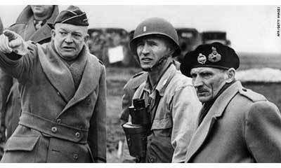 Dwight D. Eisenhower Bernard Montgomery Normandy June 1944