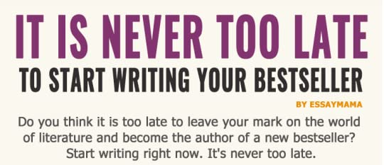 never to late essay