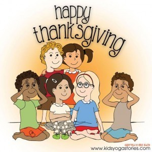 Happy Thanksgiving coloring page | Kids Yoga Stories