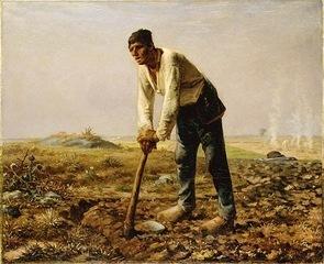 Jean François Millet, Uomo con zappa, 1862 Los A