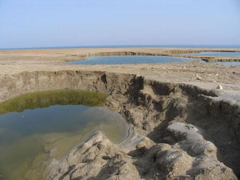 The Dead Sea receding