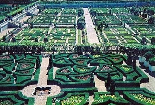 Theses are the gardens of the Château de Chenonceau