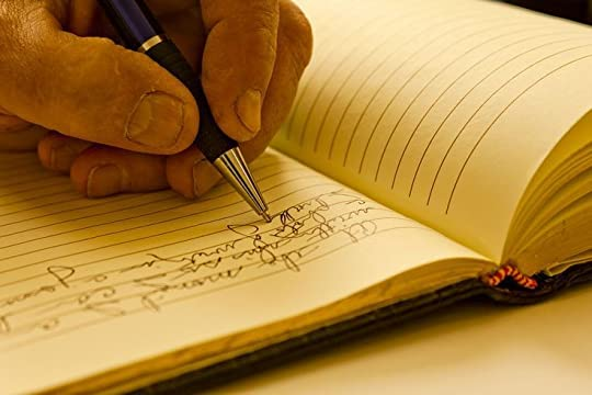 man writing in journal - Google Search
