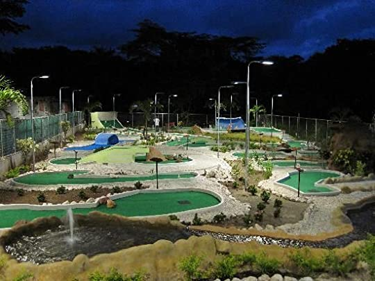 playing mini golf at night - Google Search