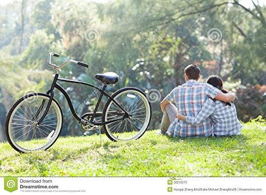Couple Sitting Outdoors Stock Photos - Image: 32212573