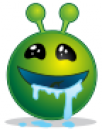 smiley_green_alien_drooling