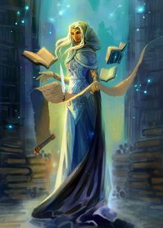 Fantasy Art Female Librarian