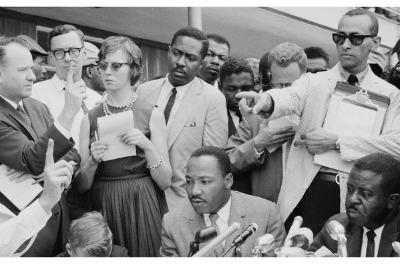 Martin Luther King Jr w Clarence B Jones behind Birmingham 1963