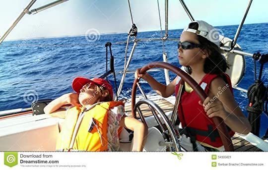 man and little girl steering a boat - Google Search