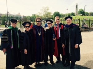 With Chancellor Gray-Little, Prof Ada Sue Hinshaw and others
