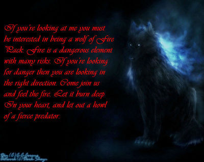 Elemental Wolves }a semi advanced role play{ - Info (before