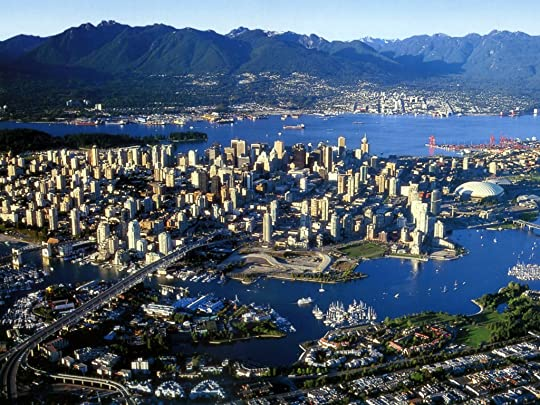 Bird's eye view of Vancouver