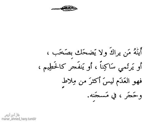 منار أحمد هانى S Review Of رباعيات جلال الدين الرومي