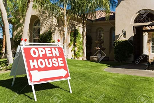 open house sign: