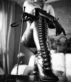 Boot her lick slave whip