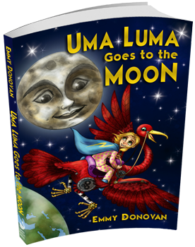 uma luma goes to the moon