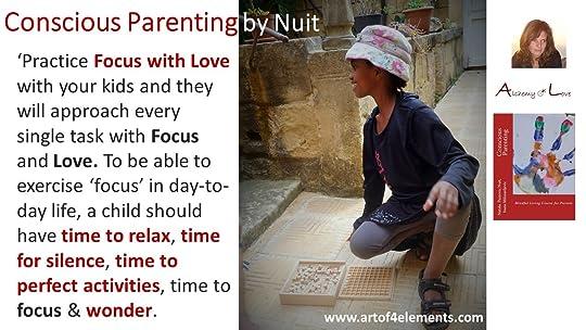 Conscious Parenting quote about kids development focus by Nataša Pantović Nuit