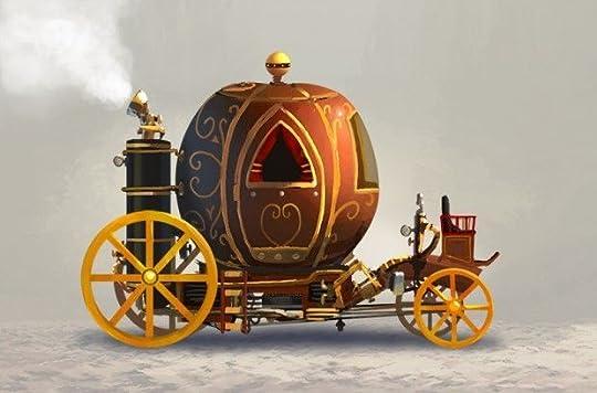 Steampunk pumpkin carriage