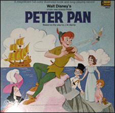 Disney's Peter Pan storybook record LP