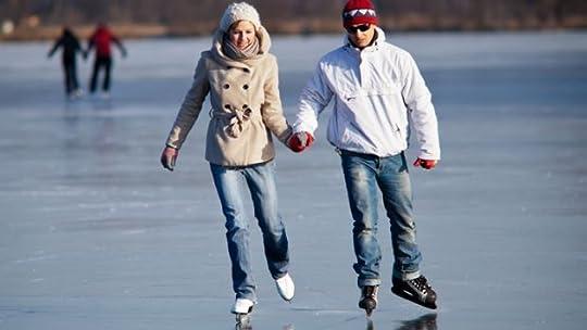 couple ice skating:
