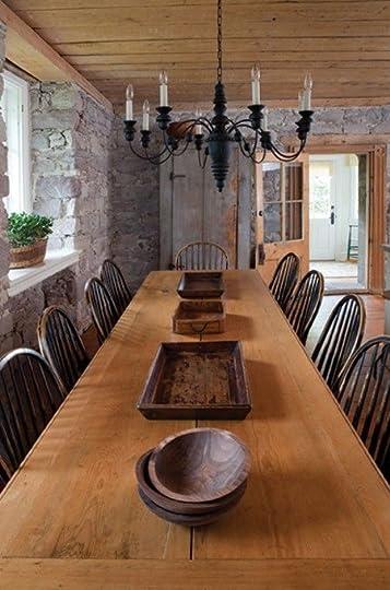 large farmhouse table: